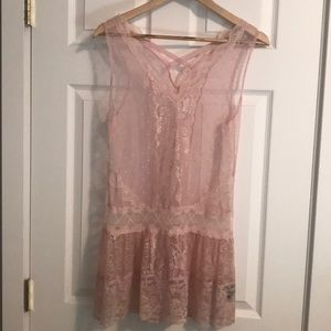 Moda International Lace pink top